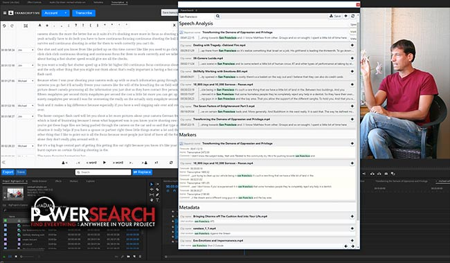 PowerSearch is a search engine for Premiere that let's you quickly find anything