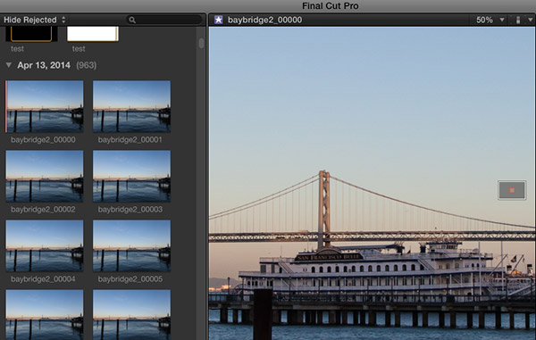 Time Lapse image sequence in Final Cut Pro failing to load as a single video file