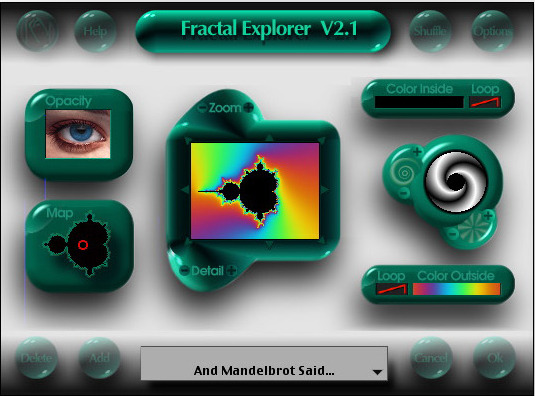 Screenshot of the Original KPT Fractal Explorere