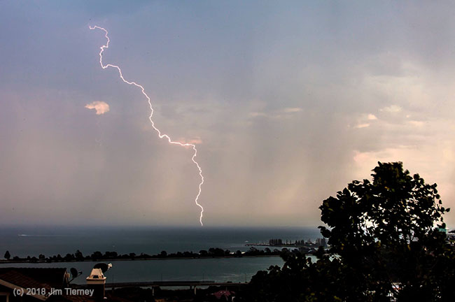 Capturing lightning using a neutral density filter and long exposure