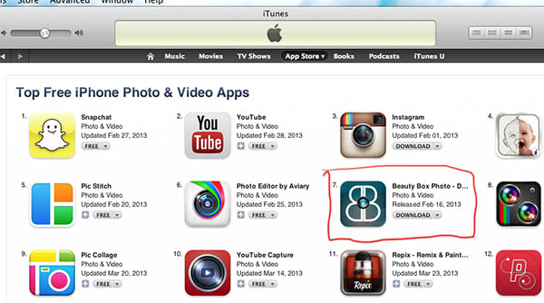 Top Free Photo or Video App in the App Store