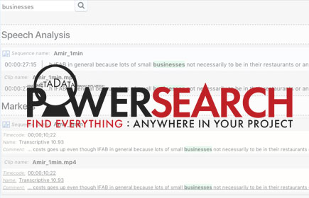 Powersearch for Premiere demo